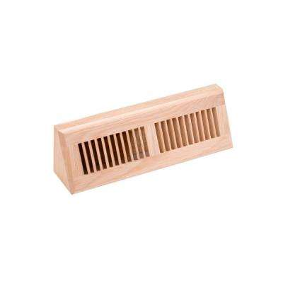 4.5 in. x 15 in. Wood White Oak Unfinished Base Board Diffuser