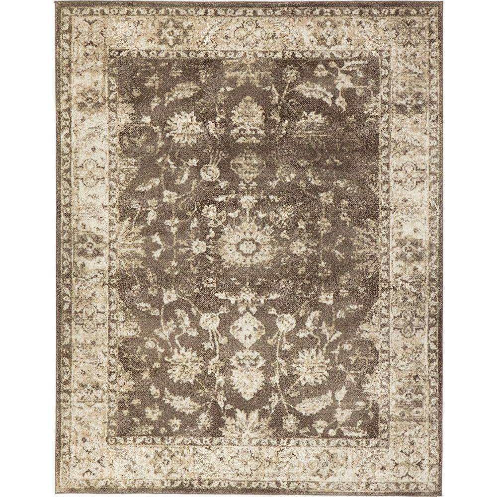 Home Decorators Collection Old Treasures Brown/Cream 5 Ft