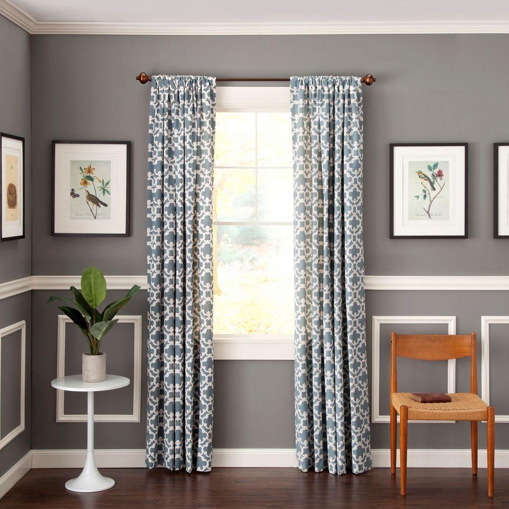 Lewis 36 - 66 in. Adjustable 3/4 in. Standard Decorative Window Single Curtain Rod in Rustic Copper