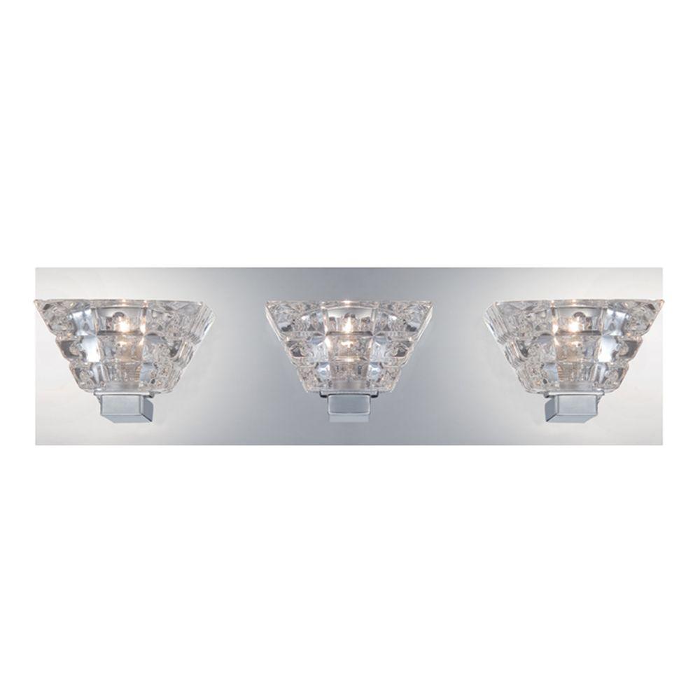 Zilli Collection 3-Light Chrome Bath Bar Light