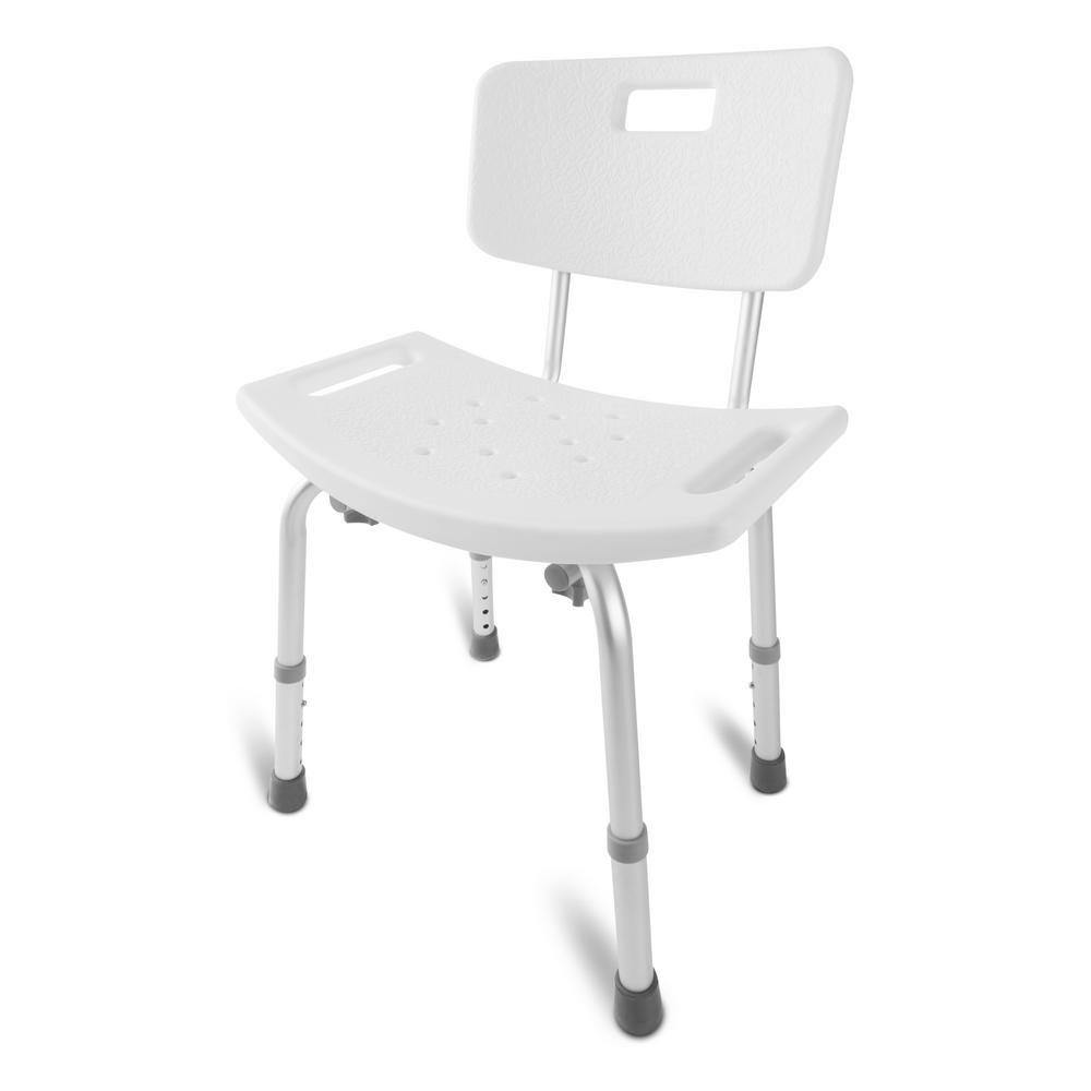 Medical Heavy-Duty Spa Bathtub Tool-Free Assembly Adjustable Height Shower Chair
