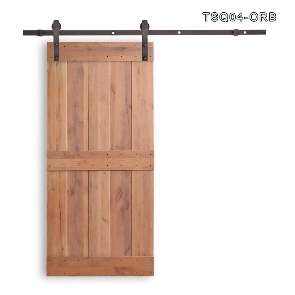 Vertical Slat 2-Panel Primed Natural Wood  sc 1 st  The Home Depot & CALHOME 36 in. x 84 in. Vertical Slat 2-Panel Primed Natural Wood ...