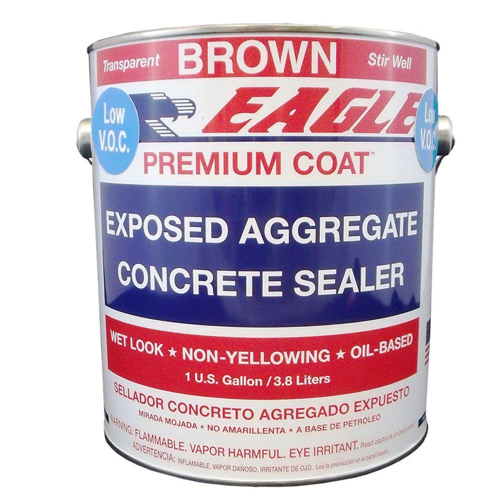 1 gal. Brown Wet Look Solvent-Based Low VOC Aggregate Concrete Sealer