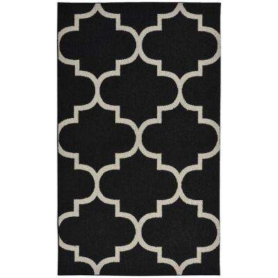 Black Silver Area Rugs Rugs The Home Depot