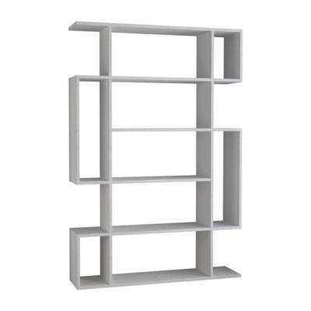 Blair White Mid-Century Modern Bookcase