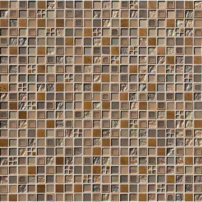 Manhattan Blend 12 in. x 12 in. x 8 mm Glass Mesh-Mounted Mosaic Wall Tile (1 sq. ft.)