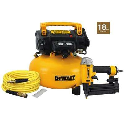18-Gauge Brad Nailer and 6 Gal. Heavy Duty Pancake Electric Air Compressor Combo Kit (1-Tool)