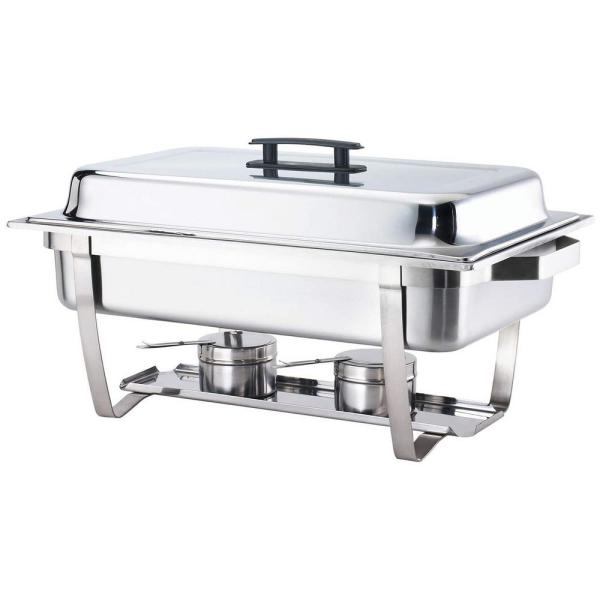 8 Qt. Foldable Frame Stainless Steel Chafing Dish Buffet Chafer Complete Set