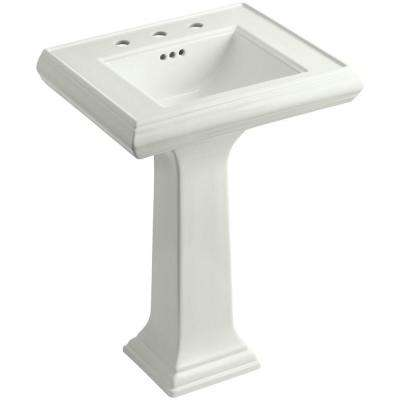 Memoirs Fireclay Pedestal Combo Bathroom Sink in Dune with Overflow Drain