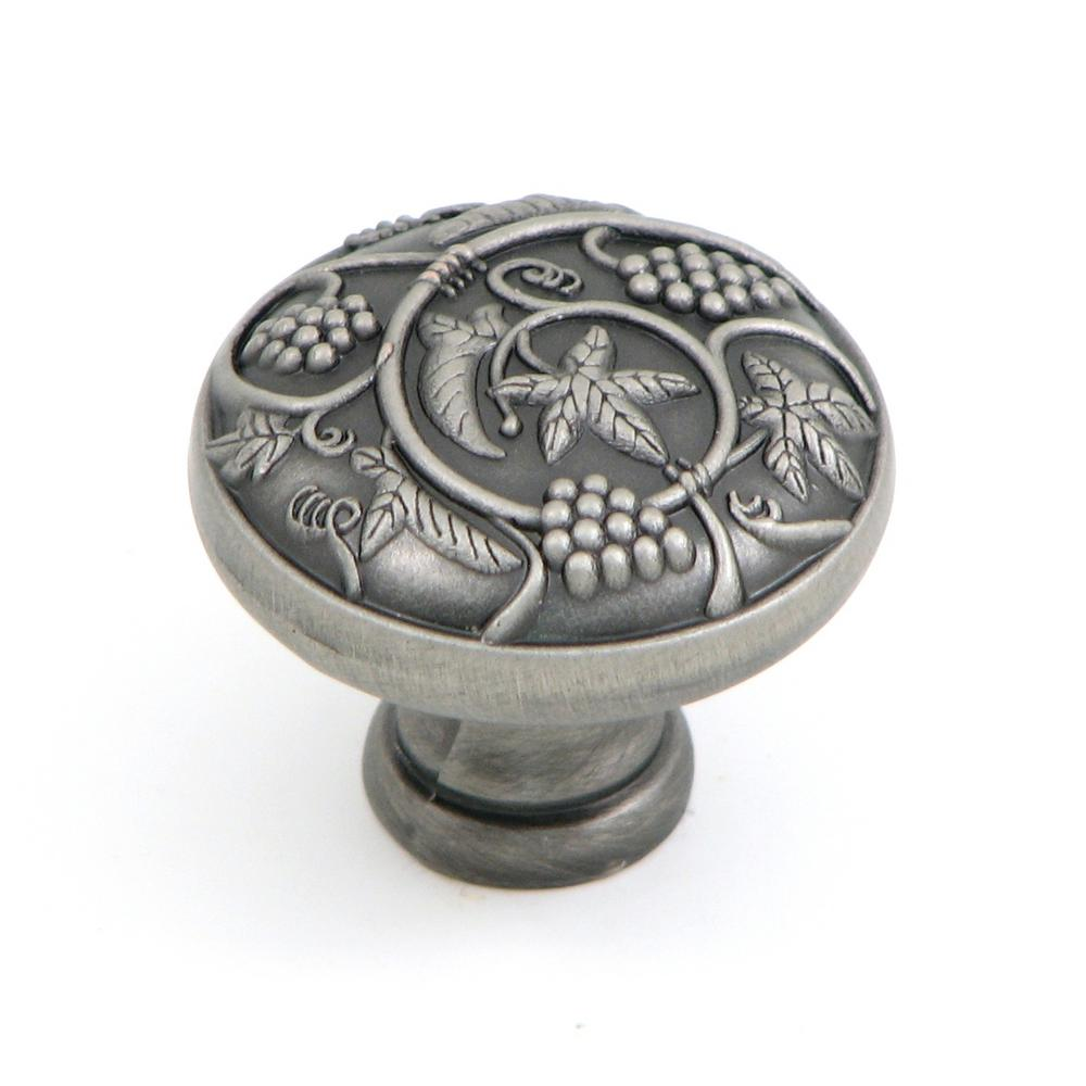 Vineyard Harvest 1-1/4 in. Weathered Nickel Round Cabinet Knob