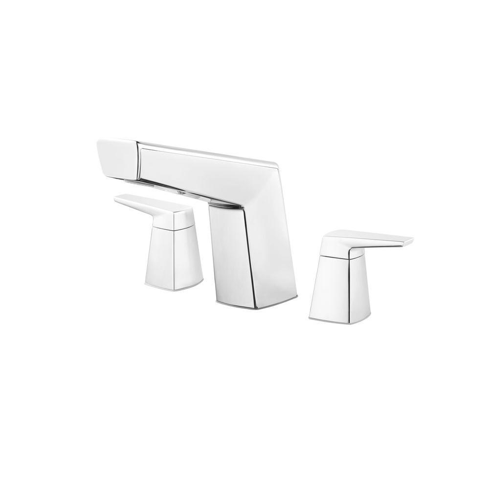 Arkitek 2-Handle Deck-Mount Roman Tub Faucet Trim Kit in Polished Chrome
