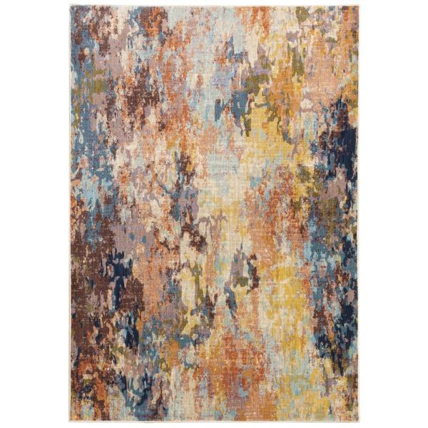 Xenia Multi 5 ft. x 8 ft. Abstract Area Rug