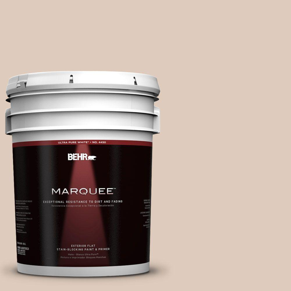 BEHR MARQUEE 5-gal. #250E-2 Pebbled Courtyard Flat Exterior Paint