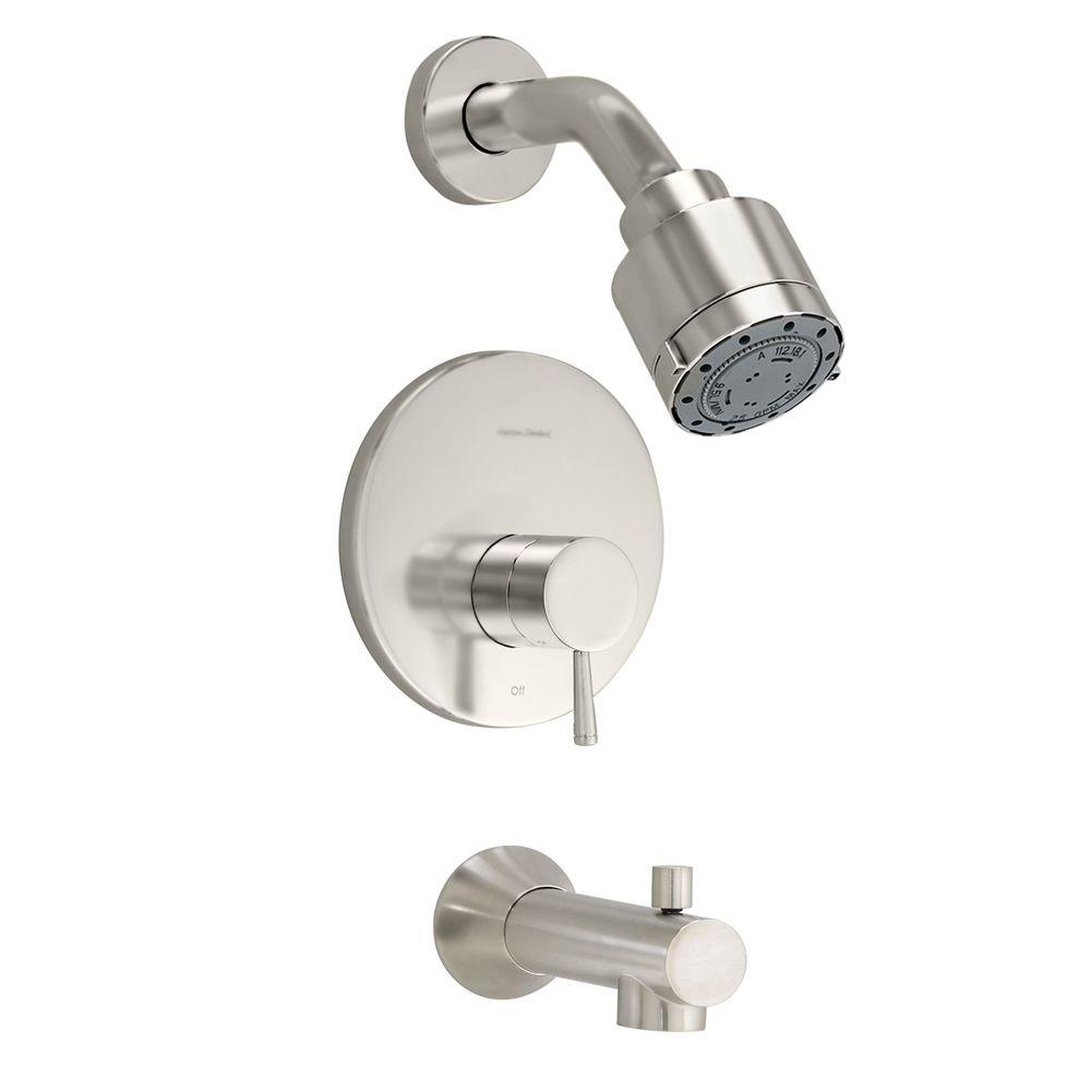 Serin 1-Handle Tub and Shower Faucet Trim Kit in Brushed Nickel