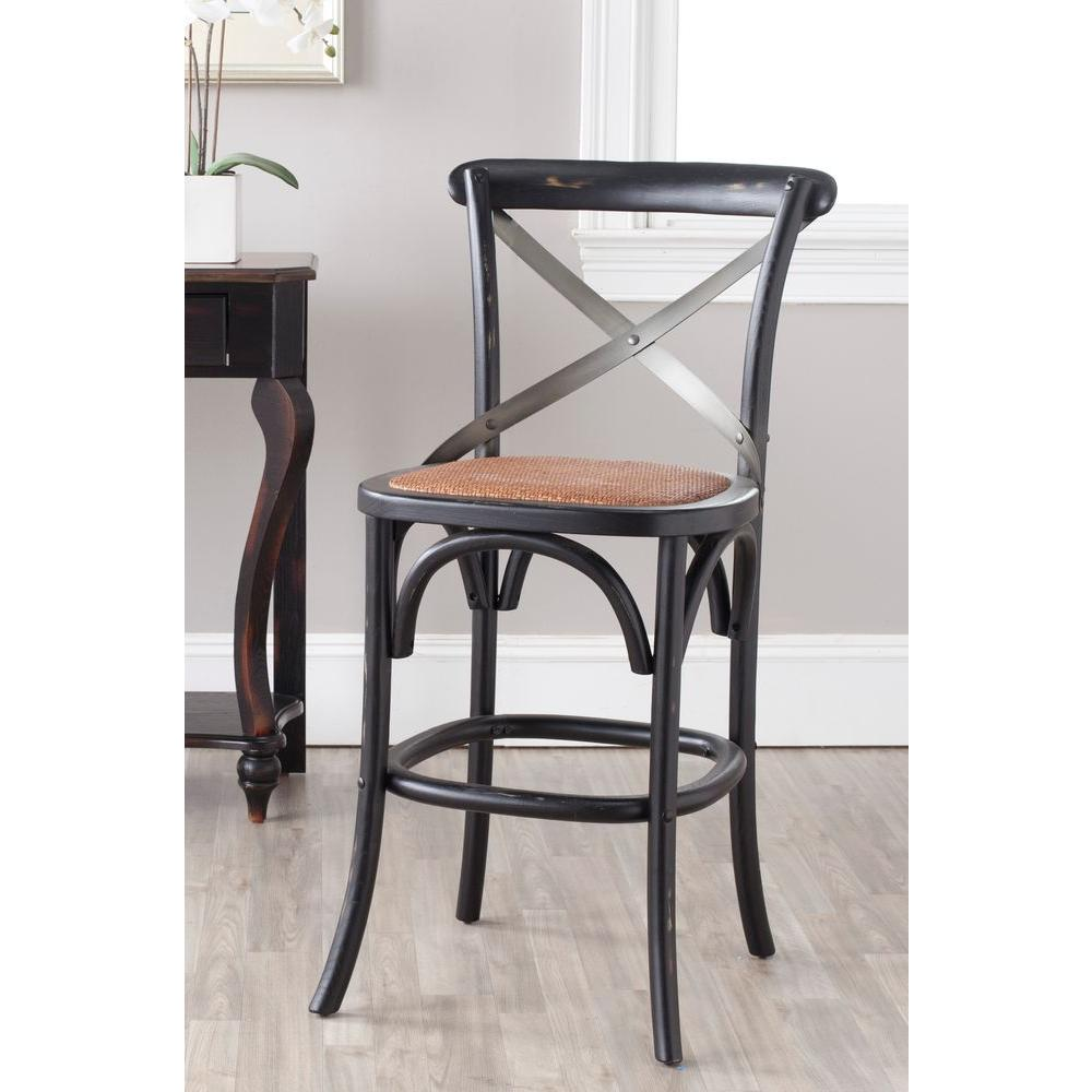 Safavieh Eleanor 24.4 in. Hickory Bar Stool