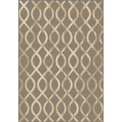 Gianna Beige 7 ft. 10 in. x 10 ft. 10 in. Indoor Area Rug