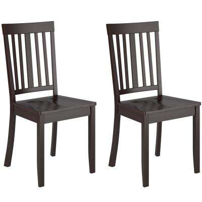 Atwood Cappuccino Stained Wood Dining Chairs (Set Of 2)