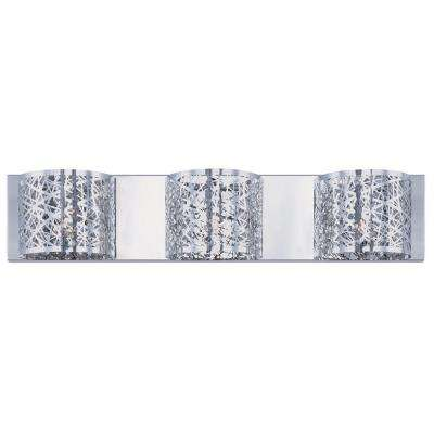 Collection 3-Light Chrome Wall Vanity Light