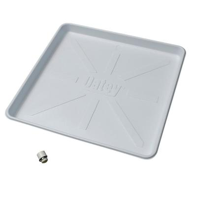 28 in. x 30 in. Plastic Washing Machine Pan with 1 in. Furnished Drain Adapter