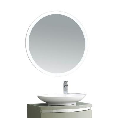 Aries 31 in. x 31 in. LED Framed Single Wall Mirror in White