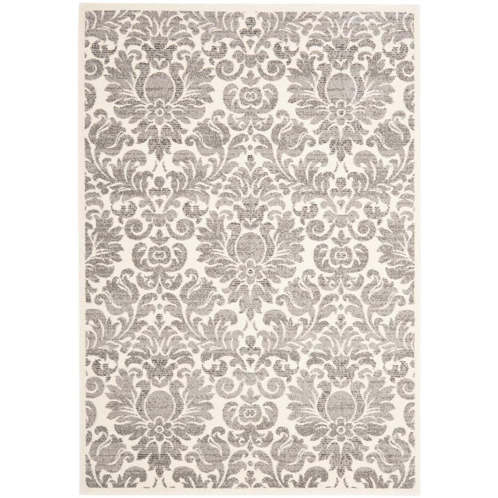 Porcello Grey/Ivory 4 ft. x 5 ft. 7 in. Area Rug