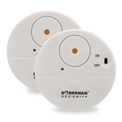 Ultra-Slim Window Alert Wireless Sensor Alarm in White (2-Pack)