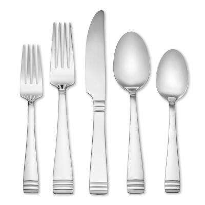 Mercer Frosted 45 Piece Flatware Set