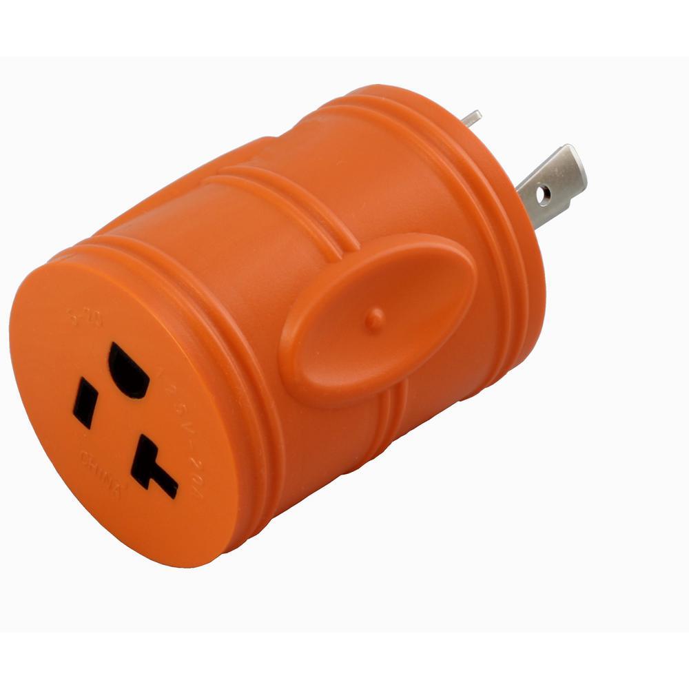Locking Adapter NEMA L5-20P 20Amp 125Volt 3Prong Locking Plug to 5-15/20R Regular Household 15/20Amp T Blade Socket