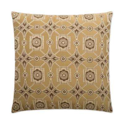 Gris Oyster Feather Down 24 in. x 24 in. Standard Decorative Throw Pillow
