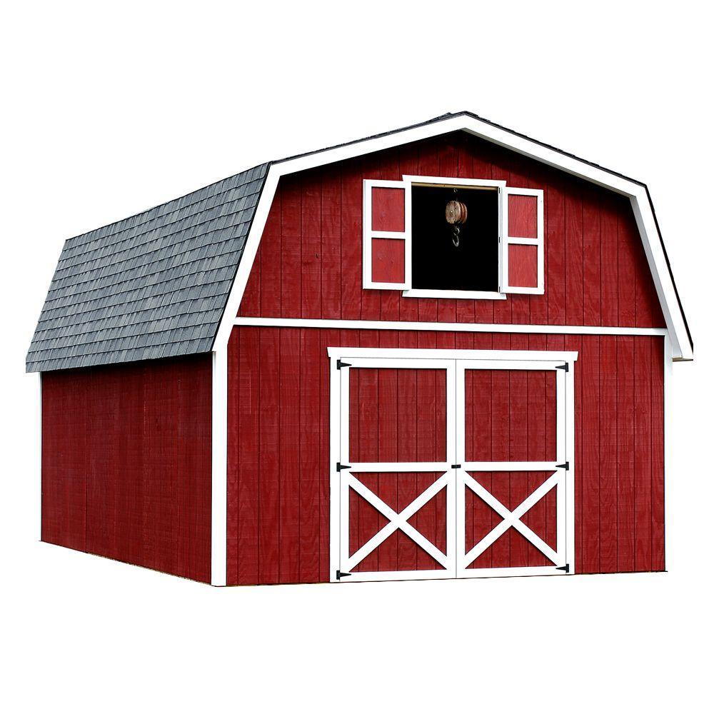 best barns roanoke 16 ft x 20 ft wood storage building roanoke1620 the home depot. Black Bedroom Furniture Sets. Home Design Ideas
