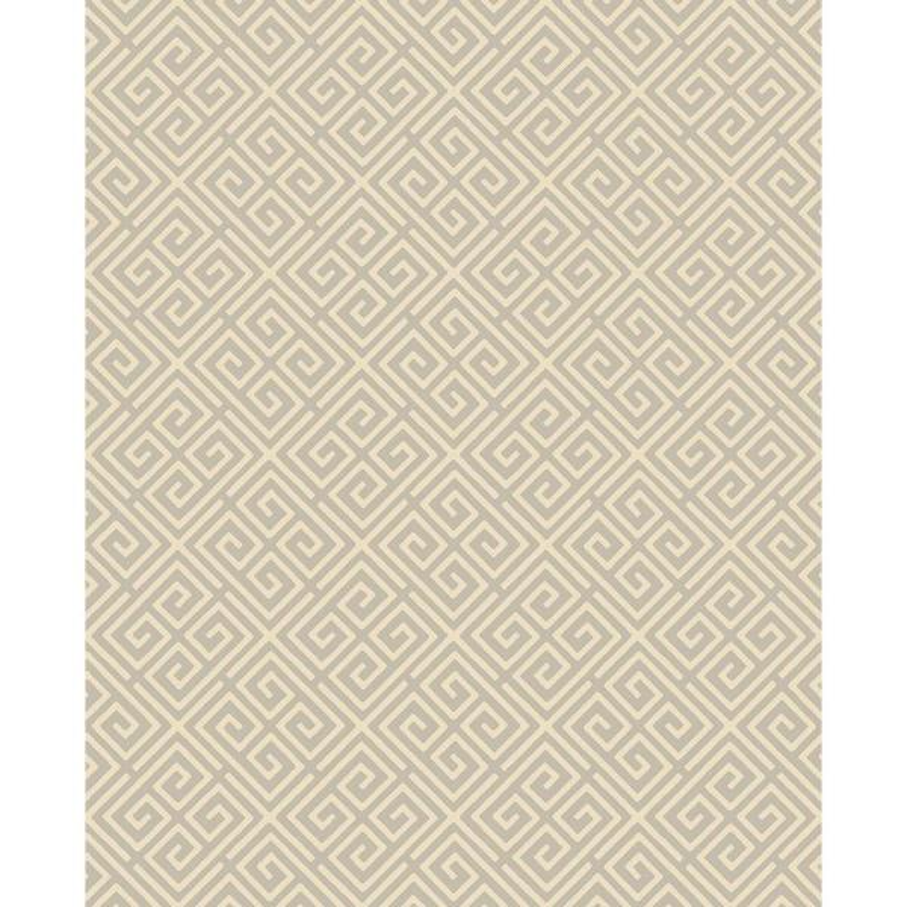 A-Street Omega Taupe Geometric Wallpaper 2625-21861