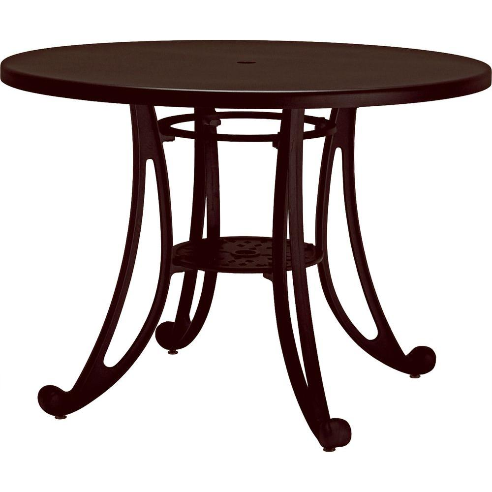 Tradewinds Terrace Hazel Nut 42 in. Round Commercial Patio Table