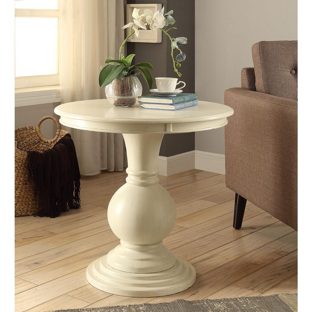 Perfect Acme Furniture Alyx Antique White Side Table