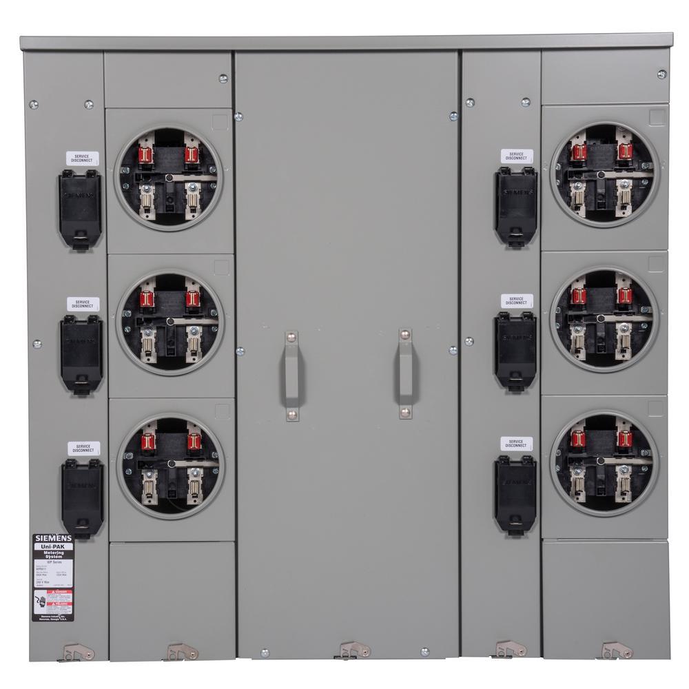 Uni-PAK 6-Gang 600 Amp Ring Style Multi-Family Metering