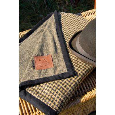 Downton Hunt Club Black/Tan Reversible Throw Reversible Decorative Pillow