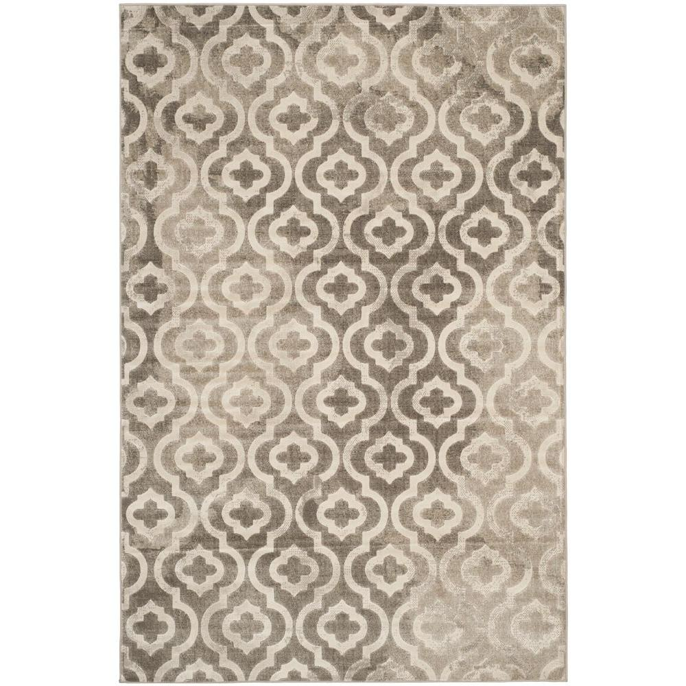 Porcello Grey/Ivory 8 ft. 2 in. x 11 ft. Area Rug
