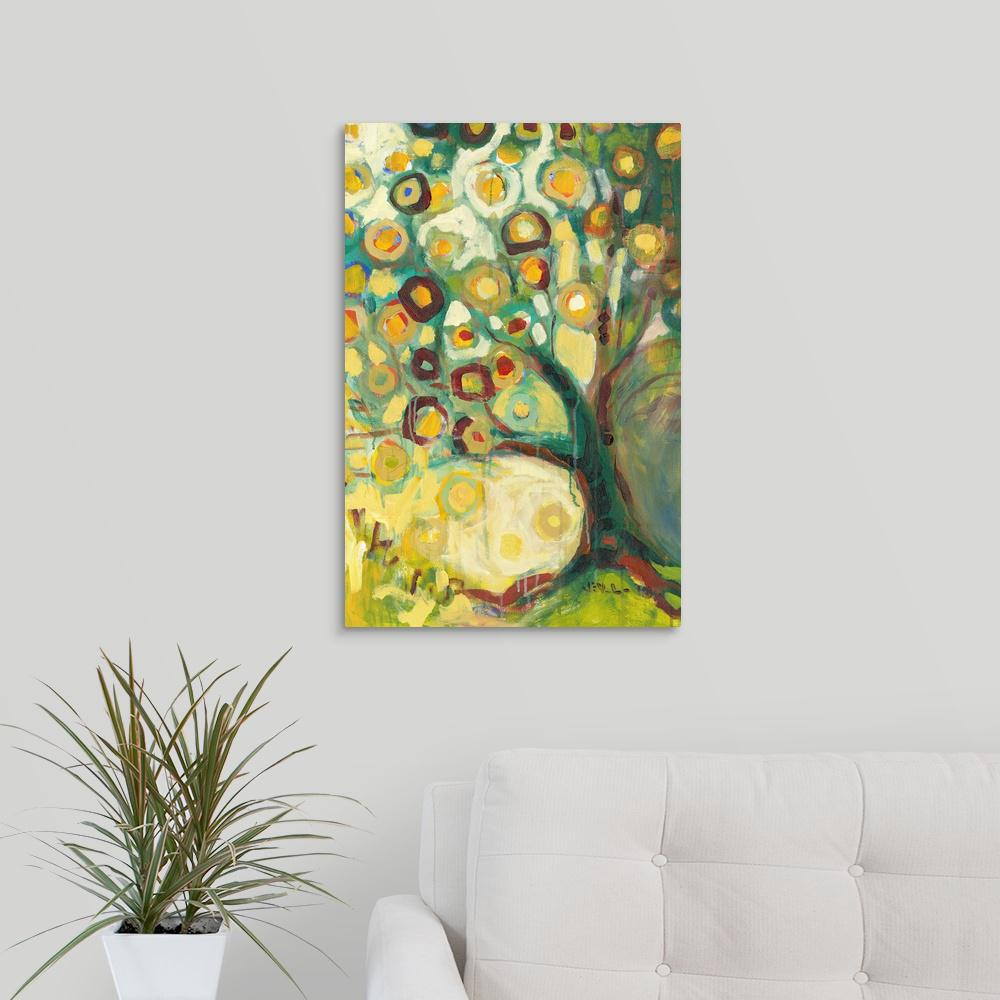 """Tree of Life in Autumn"" by Jennifer Lommers Canvas Wall Art"
