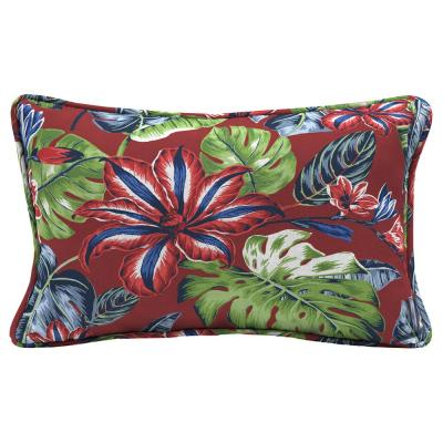 Ruby Tropical Lumbar Outdoor Throw Pillow (2-Pack)