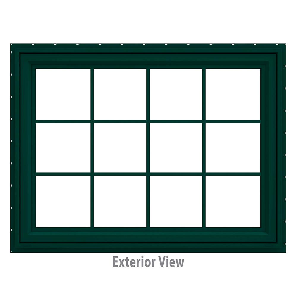47.5 in. x 35.5 in. V-4500 Series Awning Vinyl Window with
