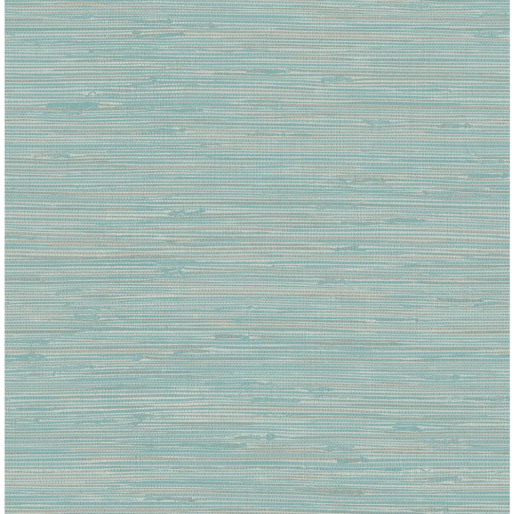 Nuwallpaper Tibetan Grasscloth Teal Blues Vinyl Strippable Roll Covers 30 75 Sq Ft Nus3337 The Home Depot