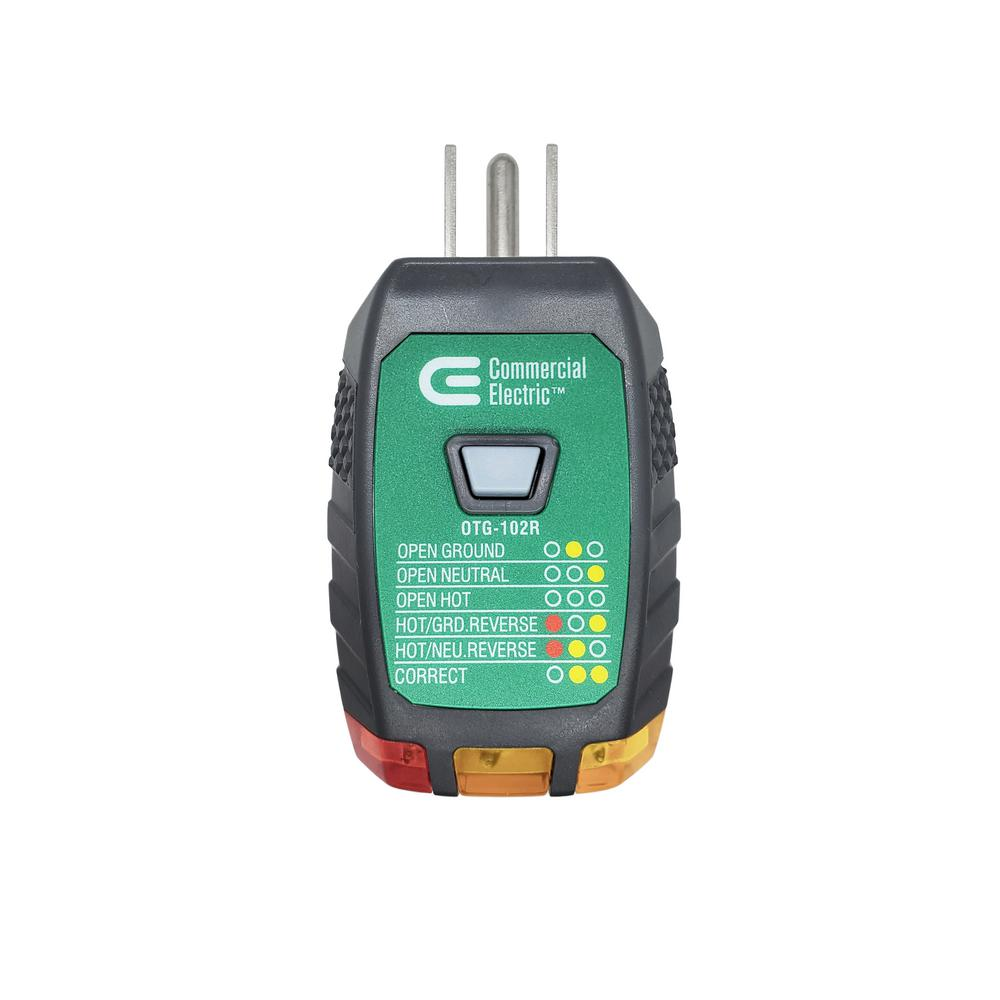 Commercial Electric Outlet Tester with GFCI