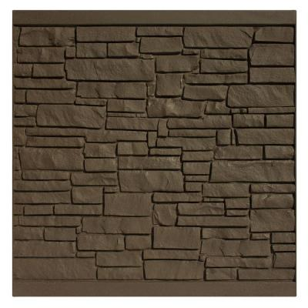 6 ft. H x 6 ft. W EcoStone Dark Brown Composite Fence Panel