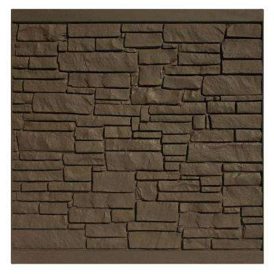 6 ft. H x 6 ft. W EcoStone Dark Brown Composite Fence Panel