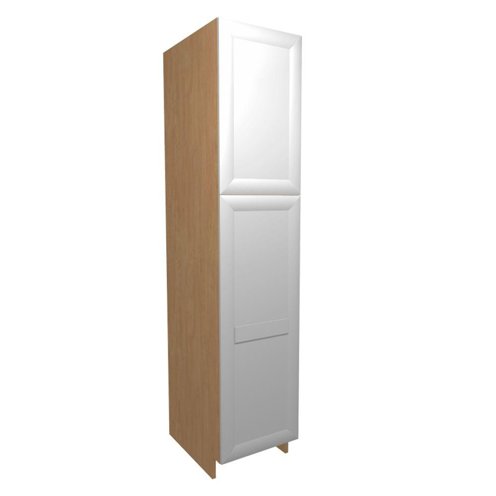 Ready To Assembled Pantry Utility Cabinet Bianco White Melamine Dolomiti - Home Decorators Cabinets Image
