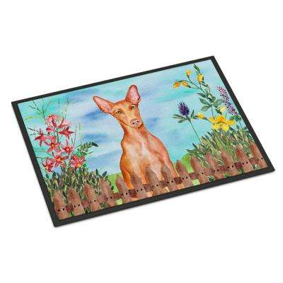 18 in. x 27 in. Indoor/Outdoor Pharaoh Hound Spring Door Mat