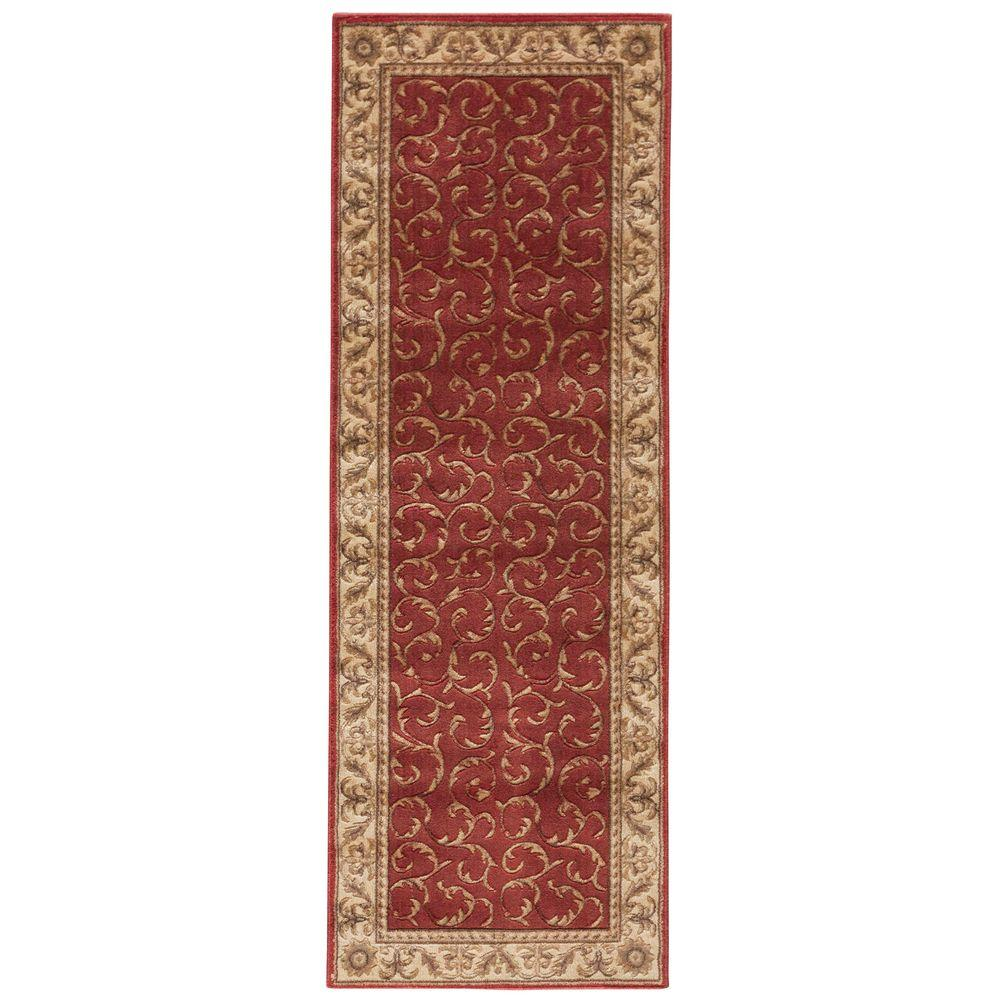 Nourison Somerset Red 2 Ft X 5 Ft 9 In Rug Runner