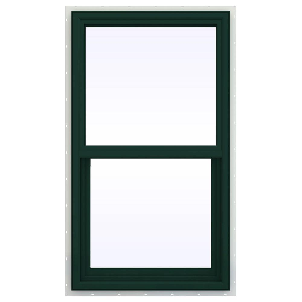 JELD-WEN 23.5 in. x 41.5 in. V-4500 Series Single Hung Vinyl Window - Green