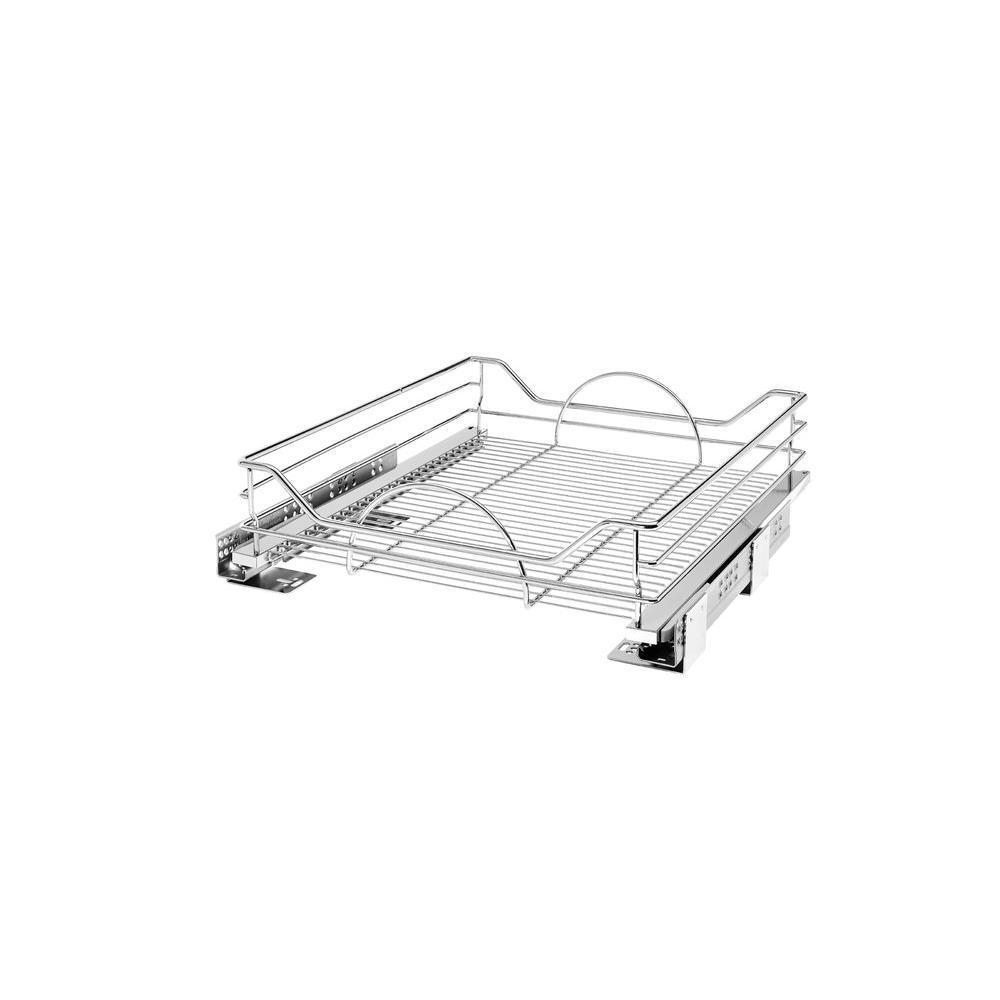 Rev-A-Shelf 6 in. H x 20.31 in. W x 21.75 in. D Chrome Pull-Out Basket with Soft-Close Slides