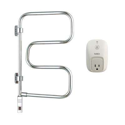 Elements 4-Bar Electric Towel Warmer in Chrome with WeMo Switch
