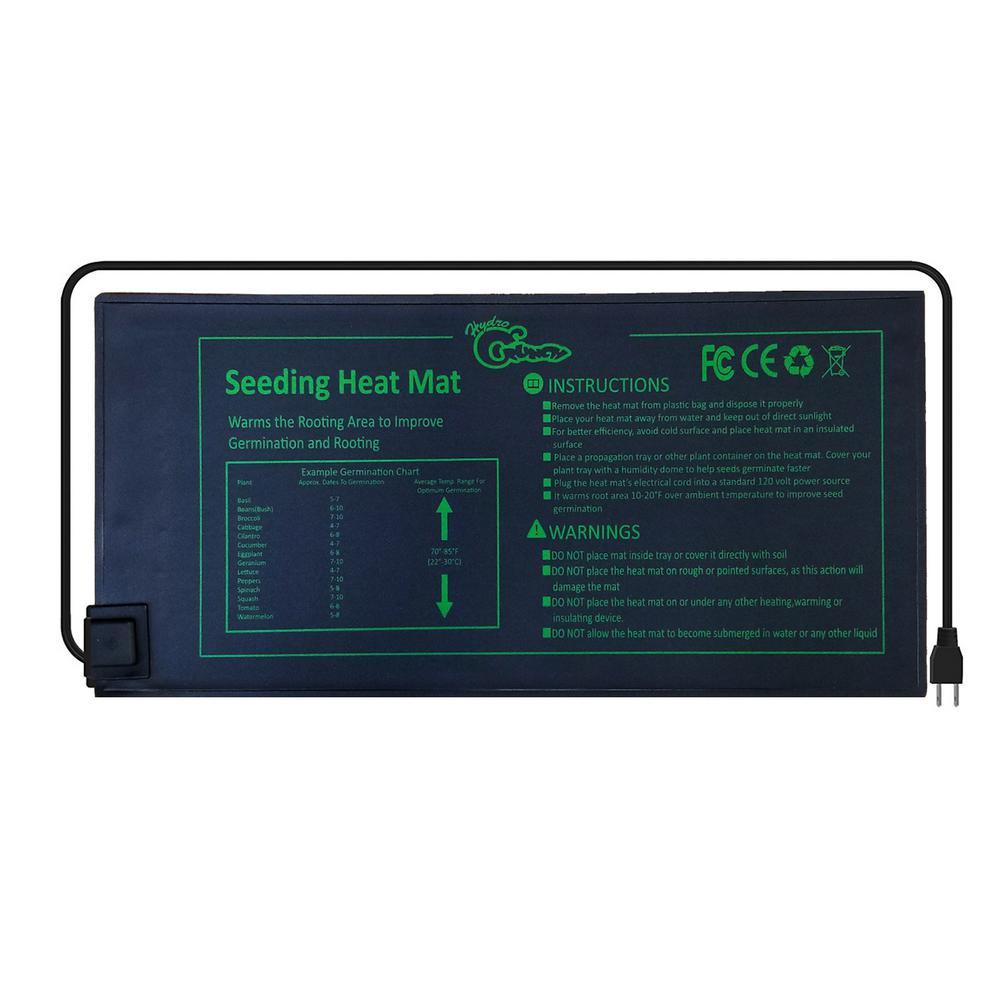 "Hydroponic Seeding Heat Mat Seed Starter Plant Pad Germination 10/"" x 20.75/"""